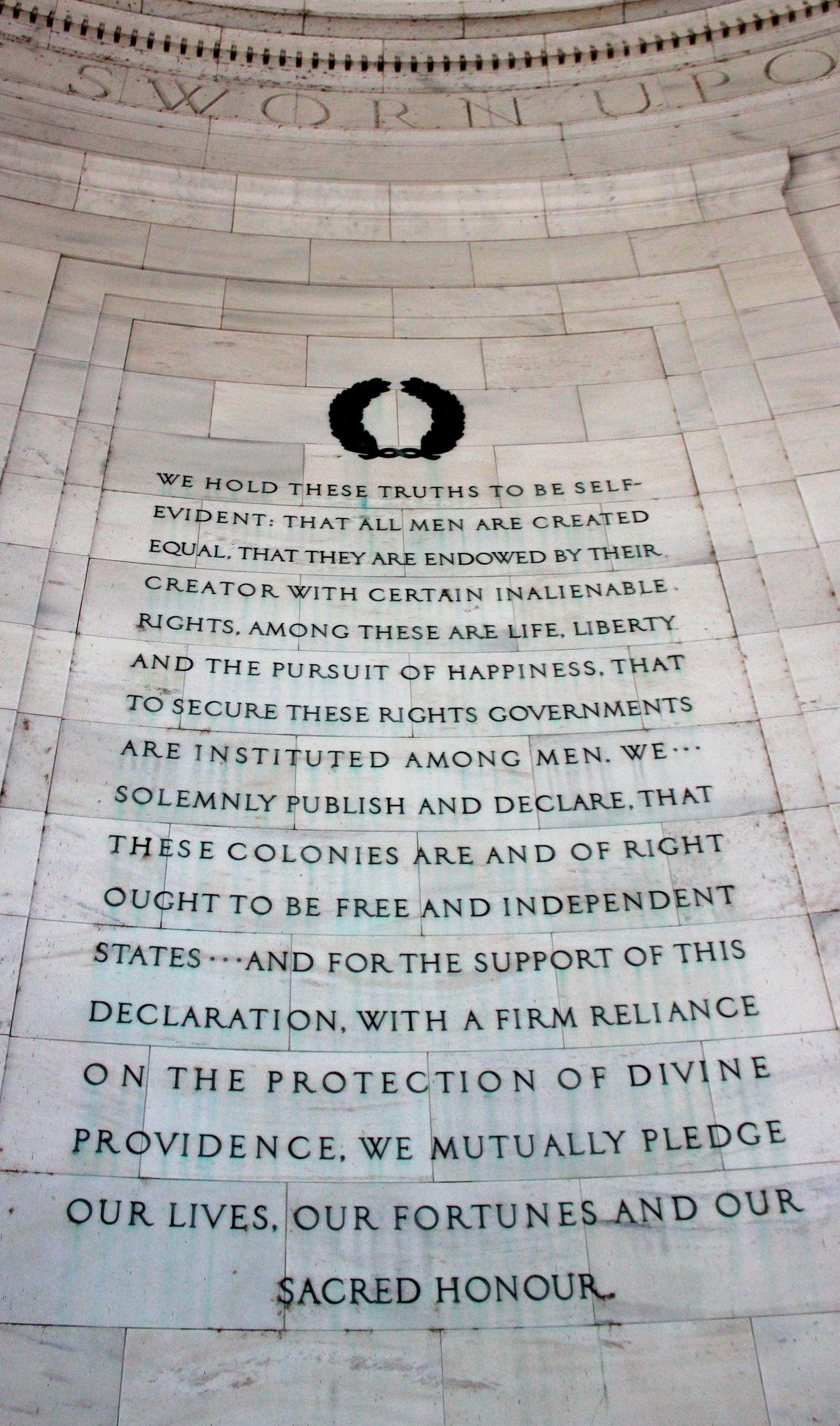 El segundo párrafo de la Declaración de la Independencia