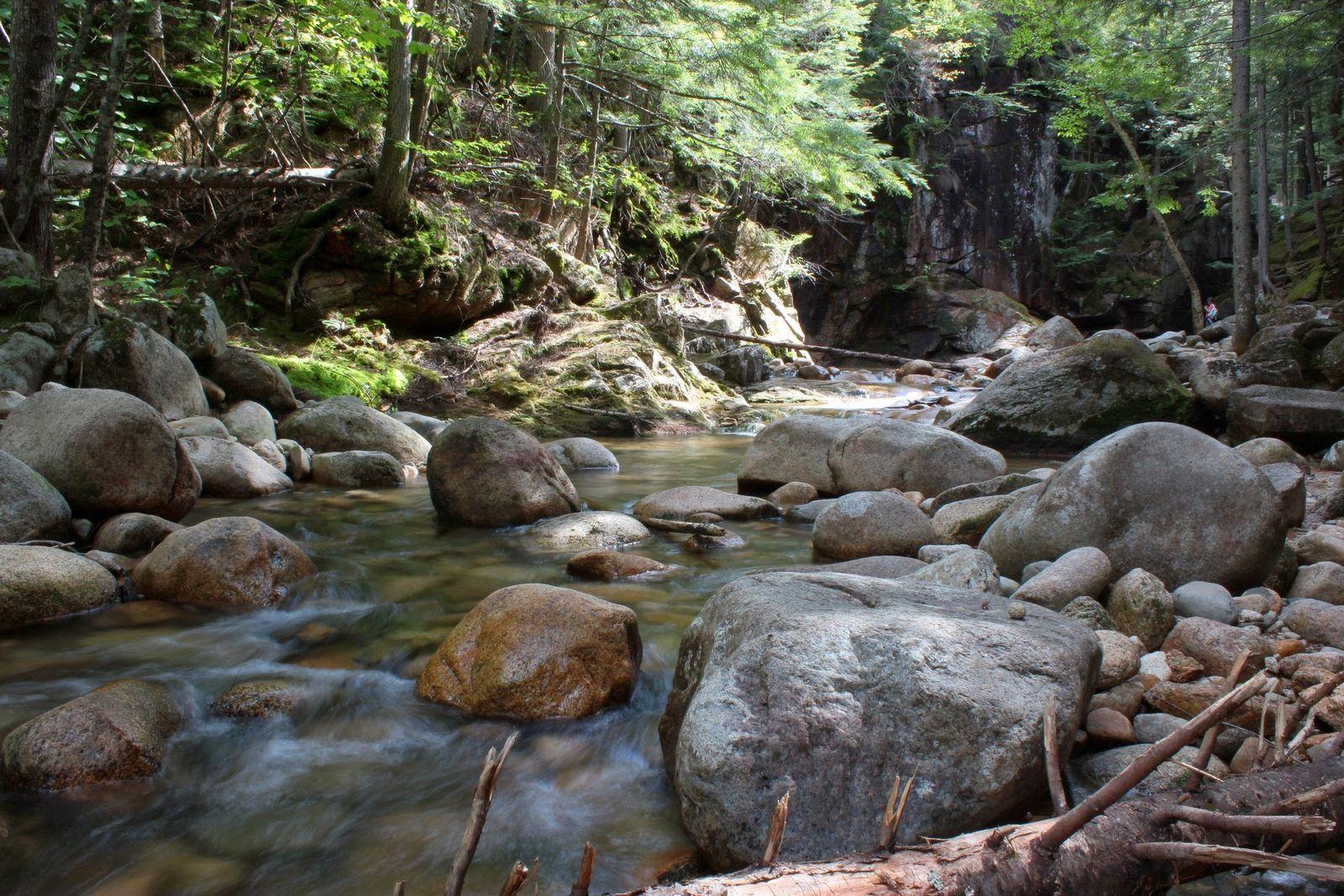 El agua sigue su curso tras la caída