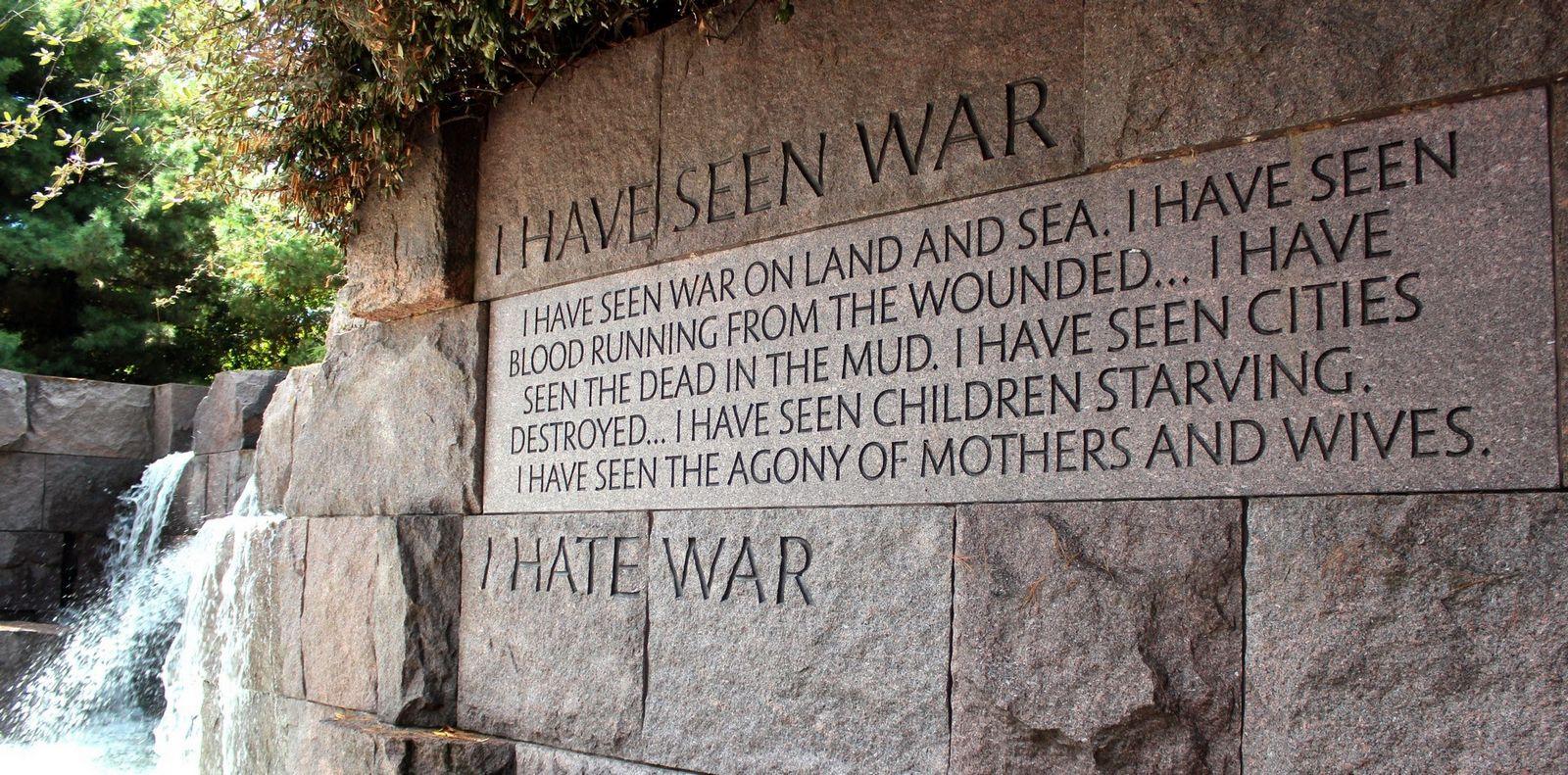 He visto la guerra... odio la guerra