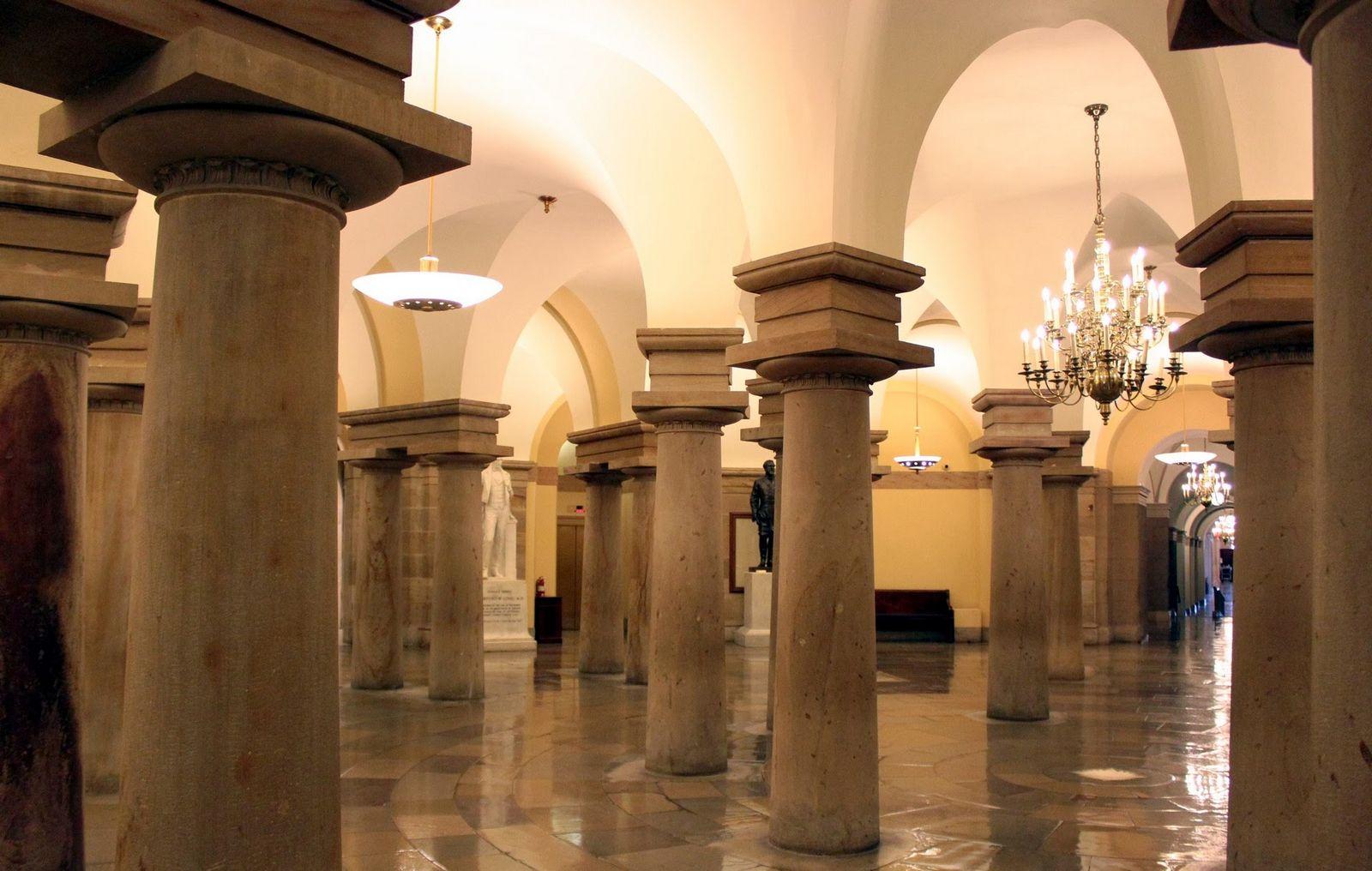 La cripta, todavía esperando los restos de George Washington