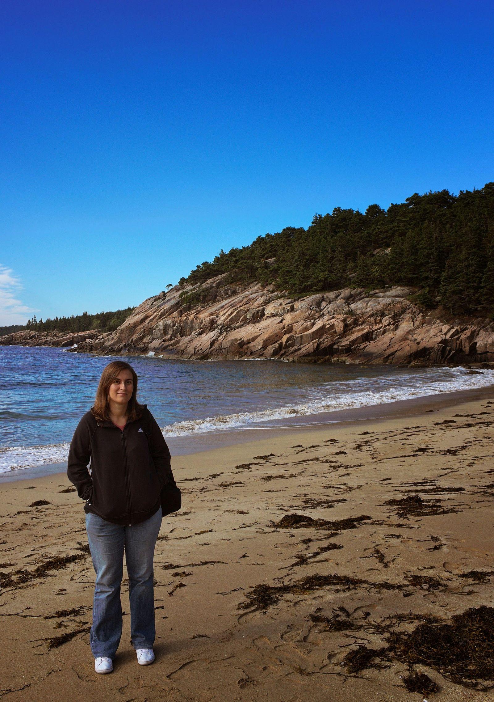 No esperábamos encontrar una playa aquí
