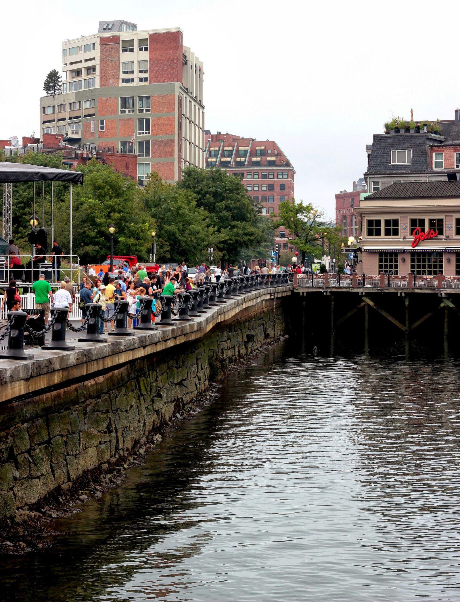 Marea baja esta tarde en Boston