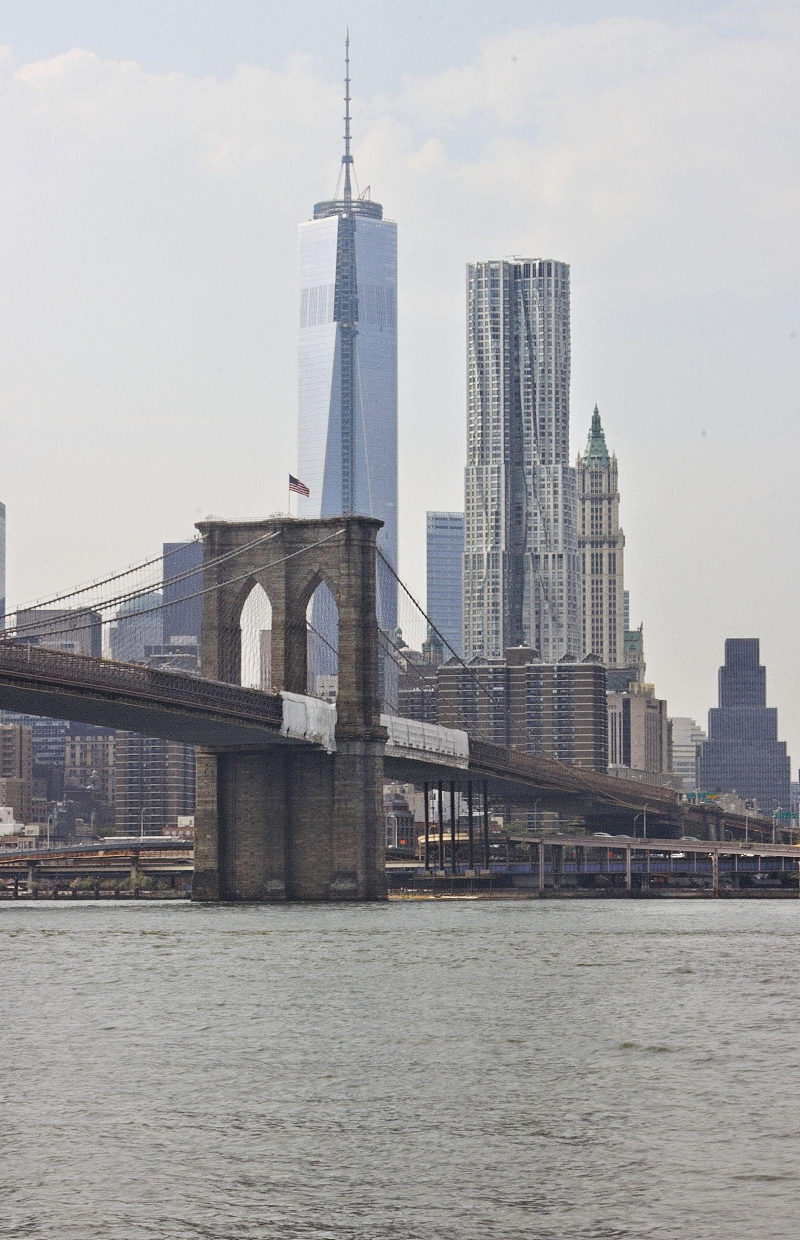 Parece que el Puente de Brooklyn está vendado