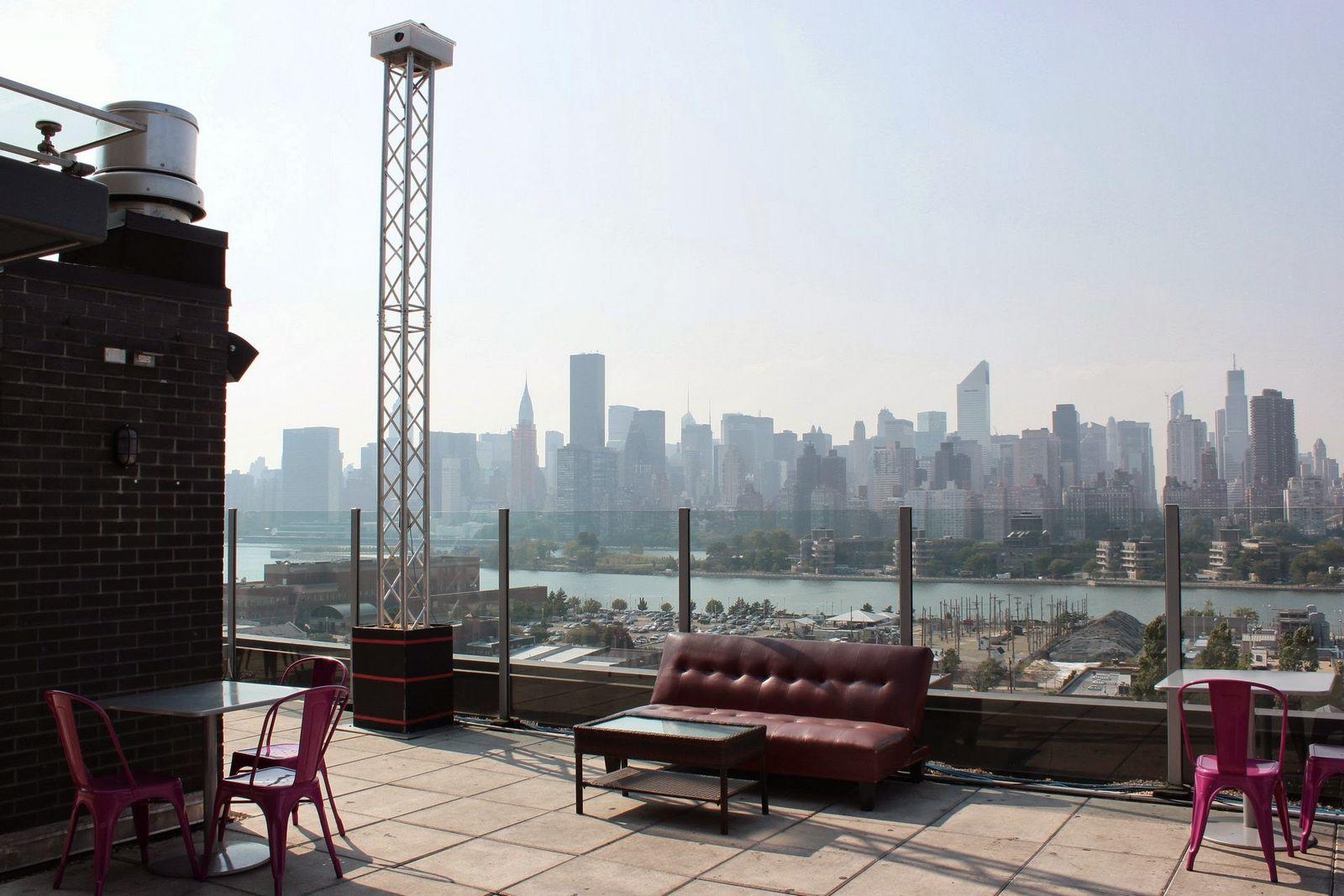 La terraza del Z Hotel NYC