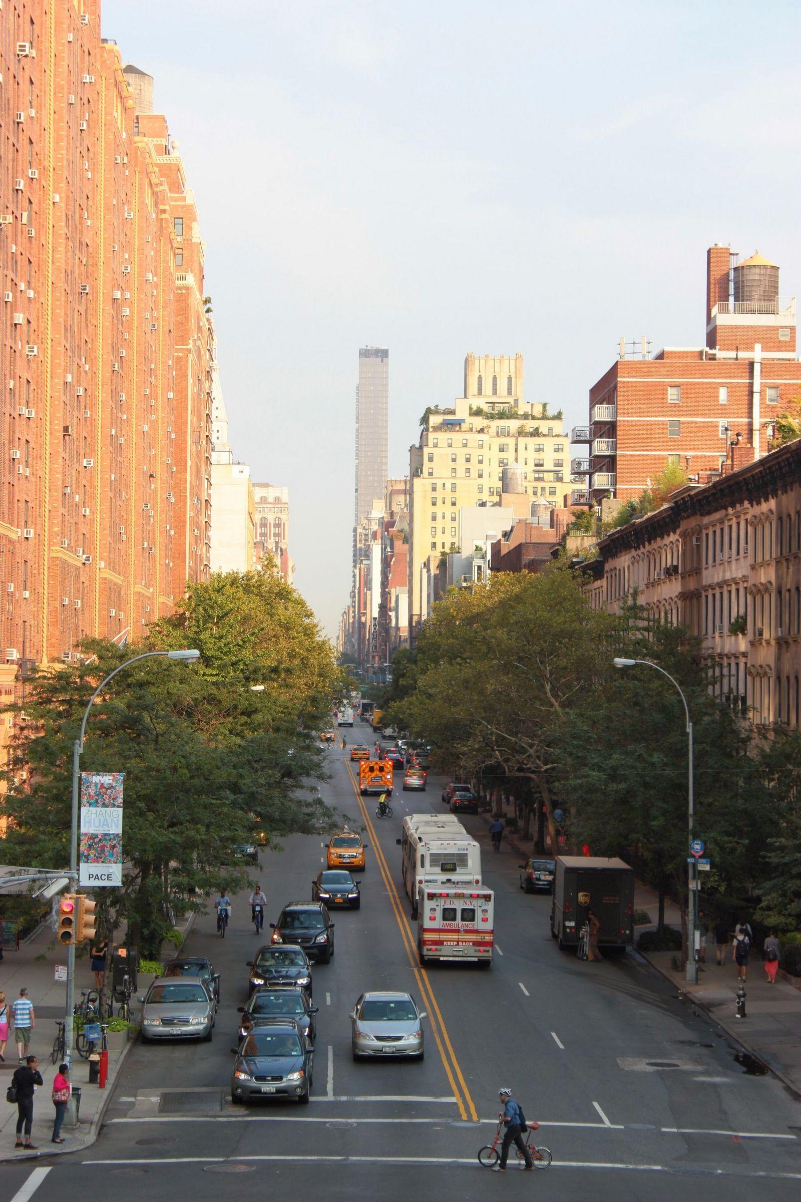 Calles de Manhattan desde High Line Park