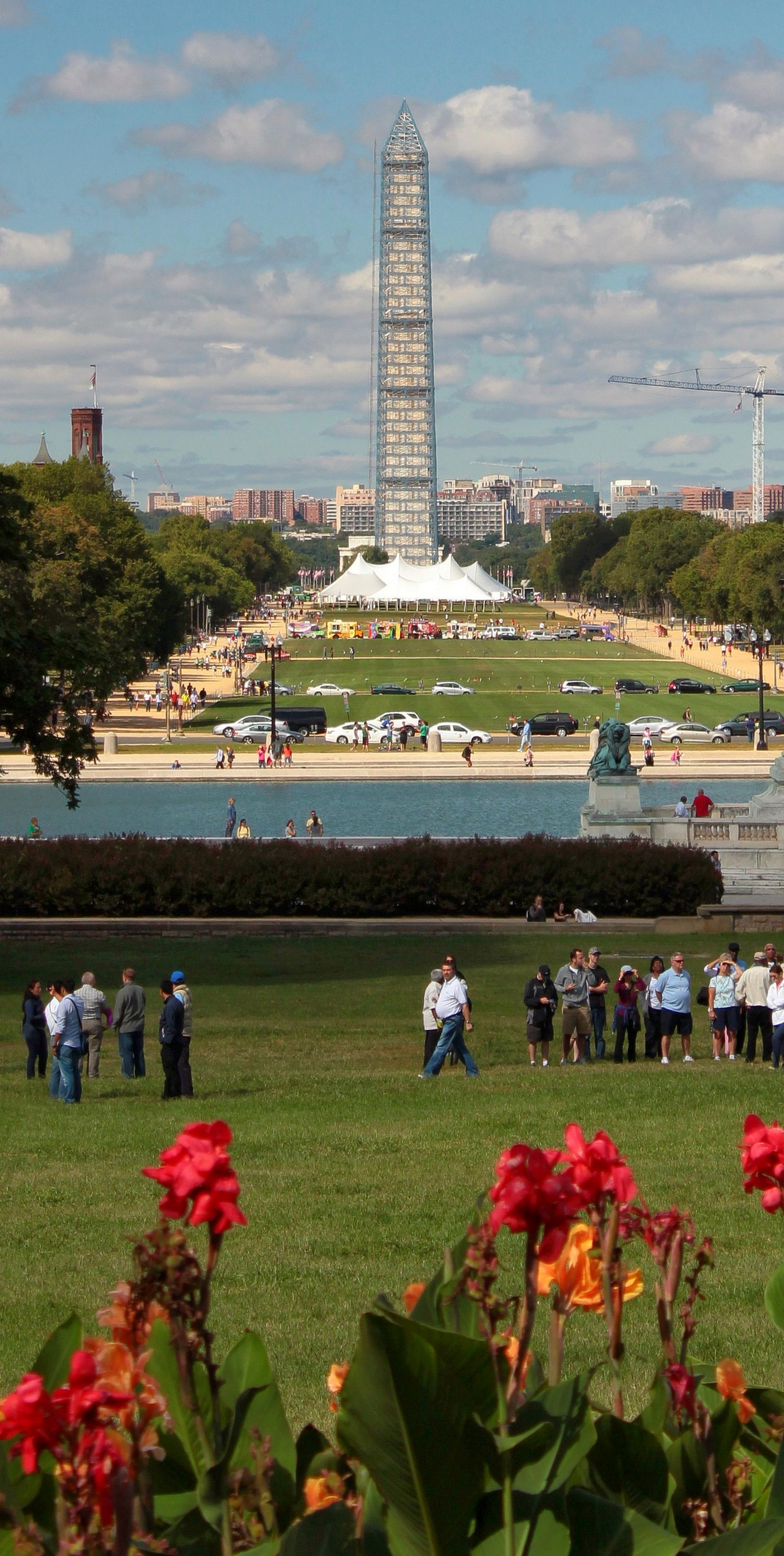El National Mall, con Washington vendado
