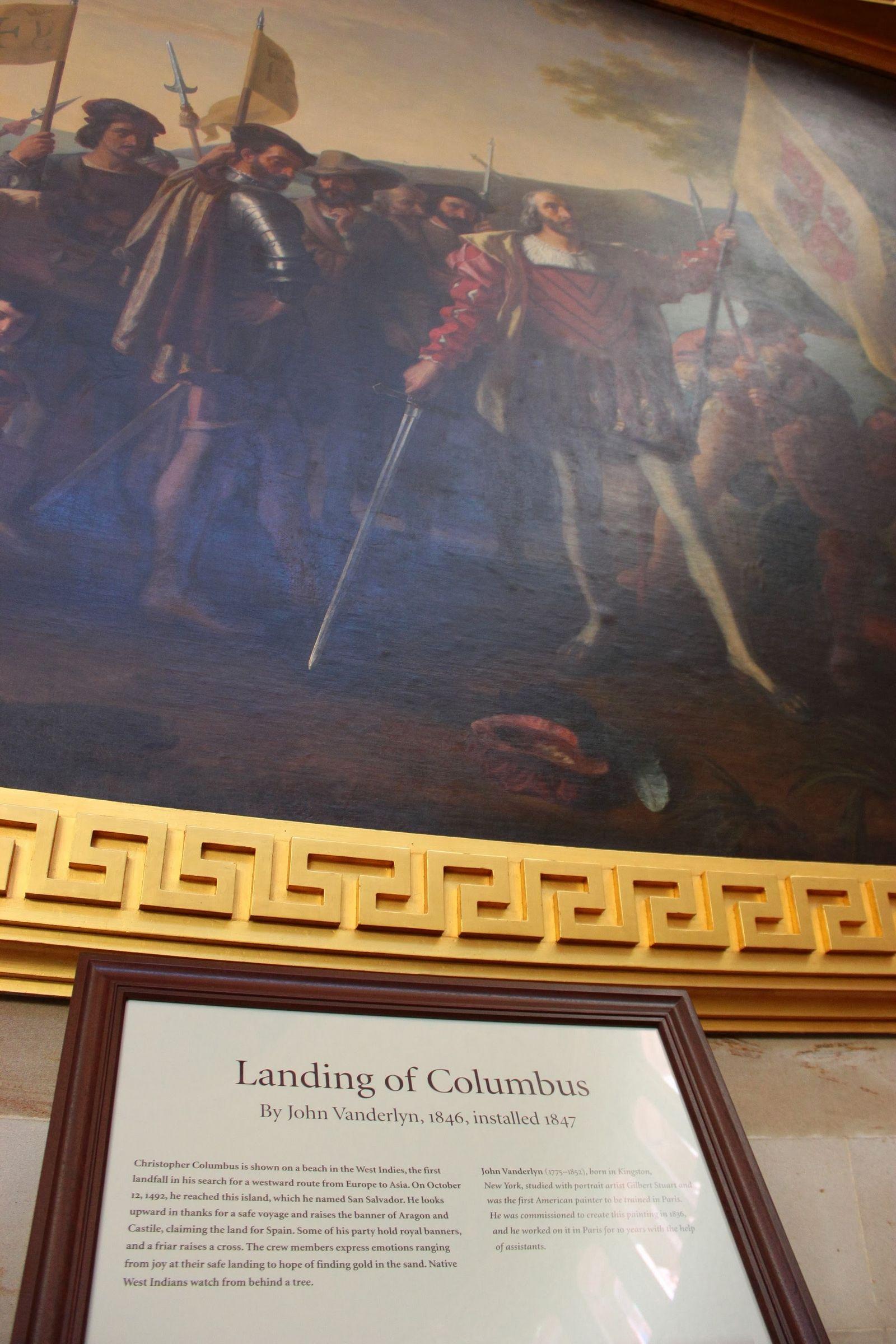 Uno de los varios cameos de Colón en la Rotunda
