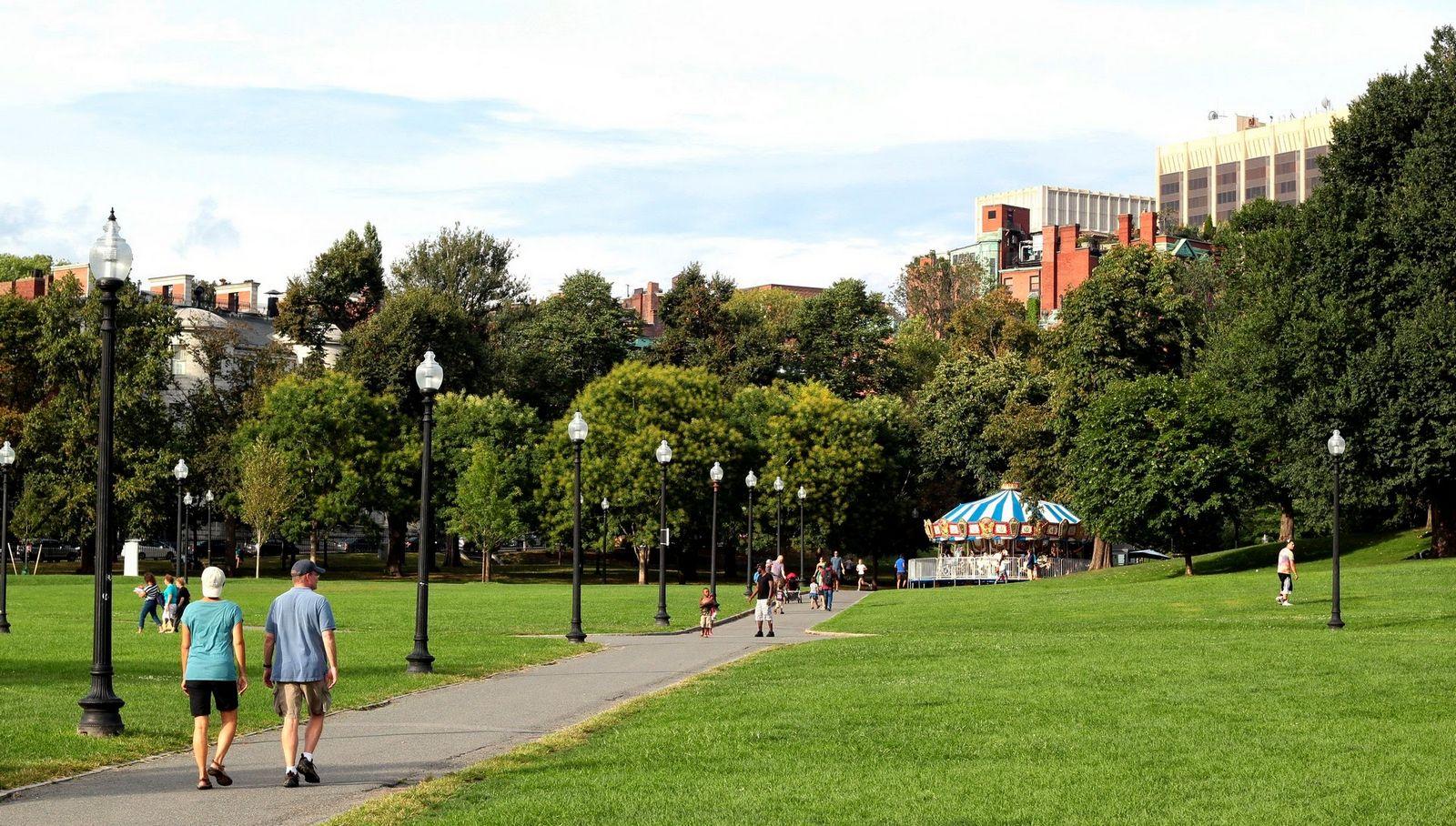 El Boston Common gana mucho cuando sale el sol