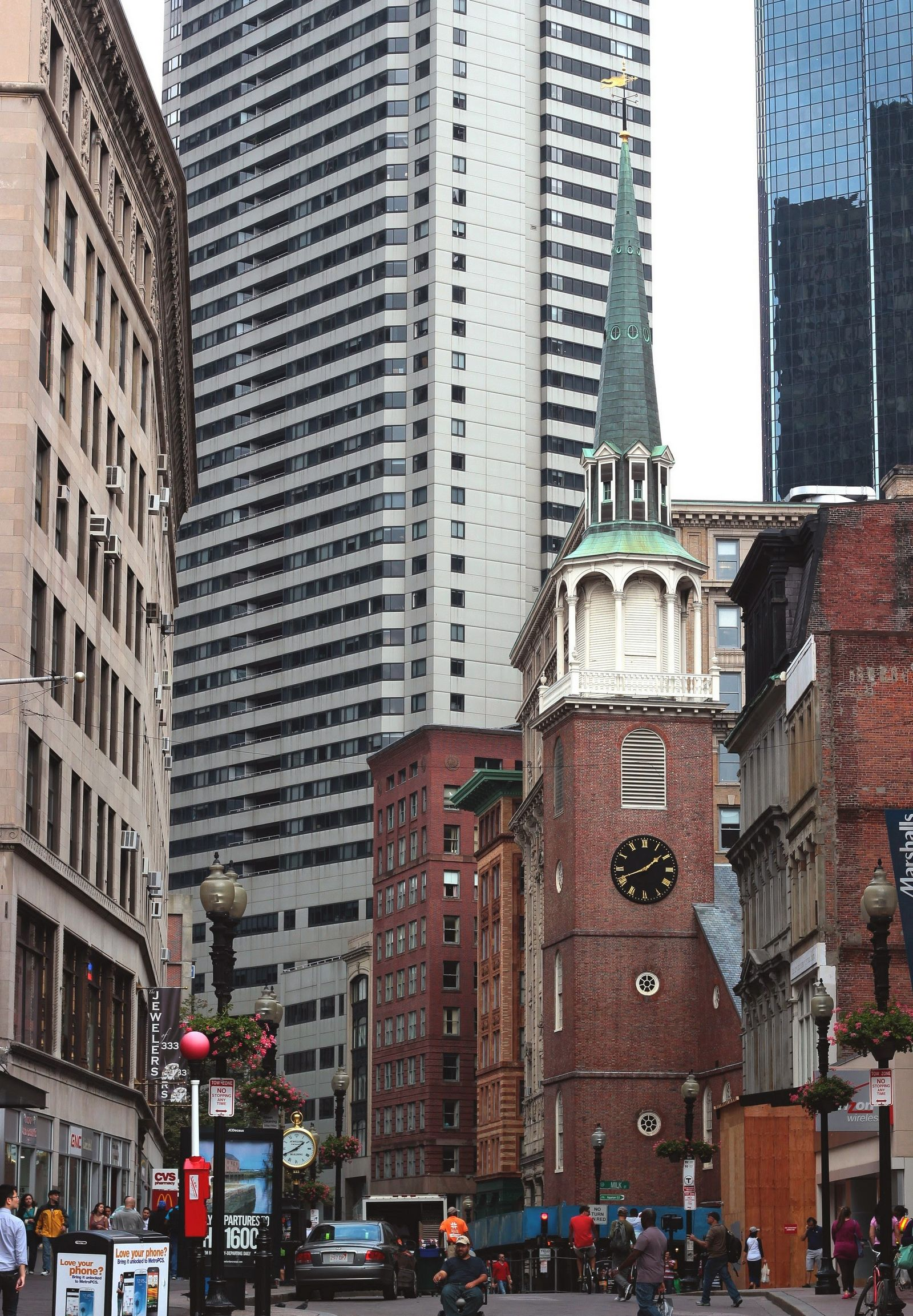 Tremenda densidad de iglesias en el centro de Boston