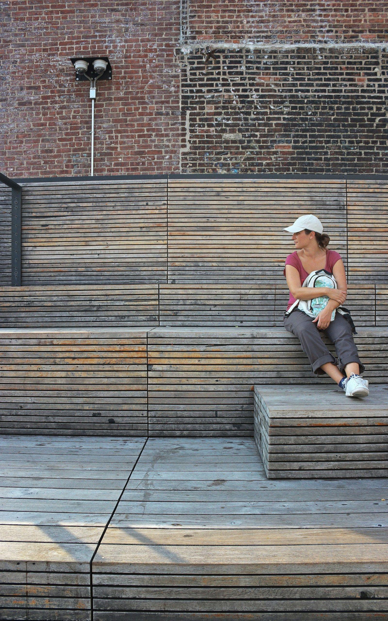 Descansando un rato en High Line...