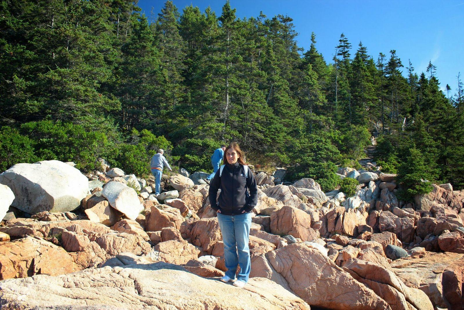 Las pocas rocas a atravesar para llegar al mirador
