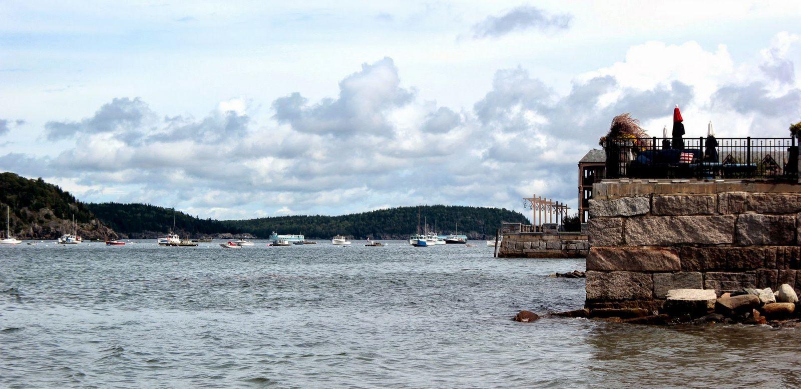 Puerto de Bar Harbor junto al mirador a Bar Island