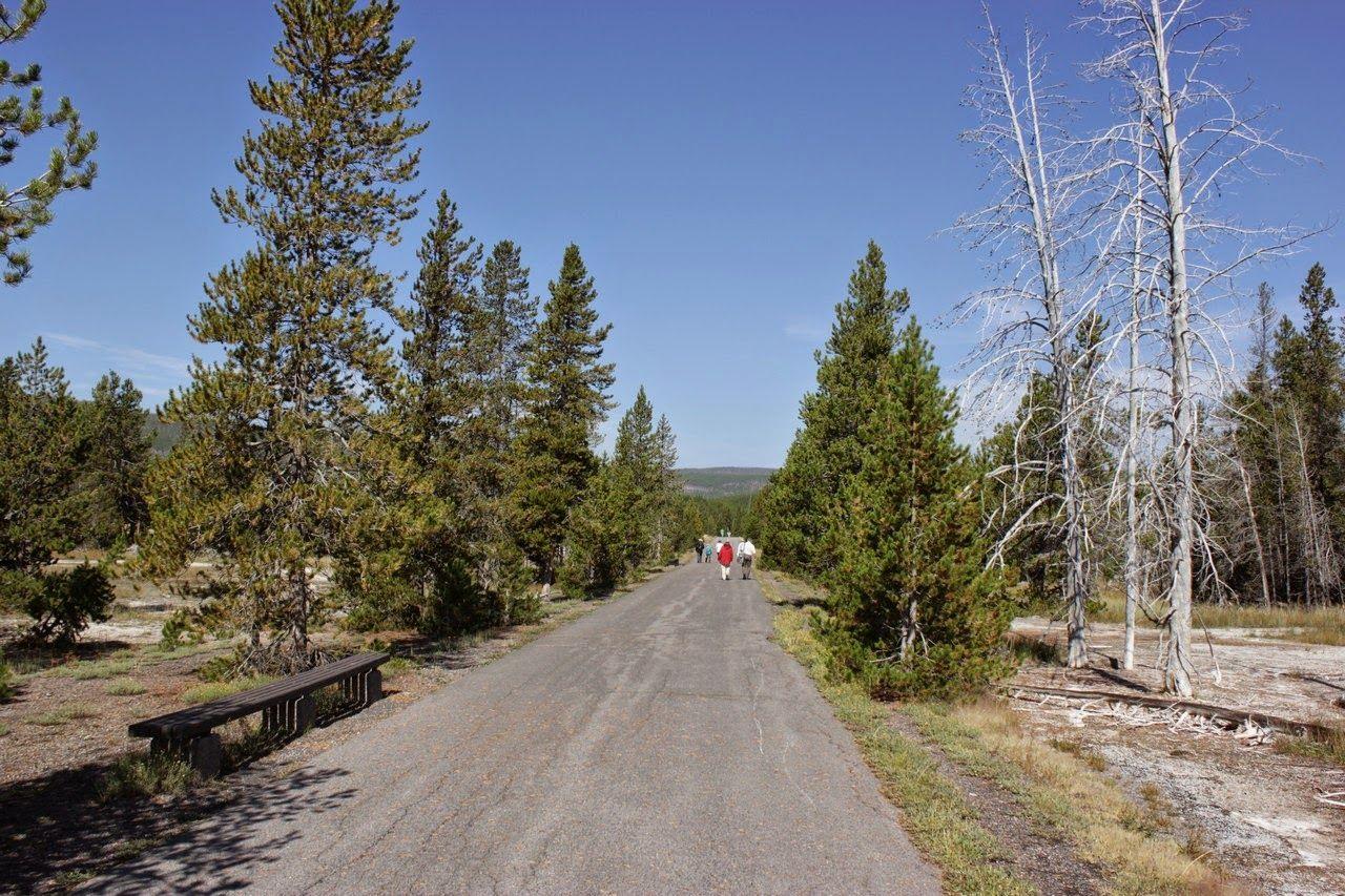 Y el camino asfaltado por el lateral