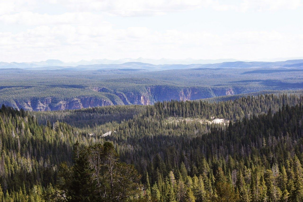 Vistas lejanas al cañón según nos dirigimos al norte...