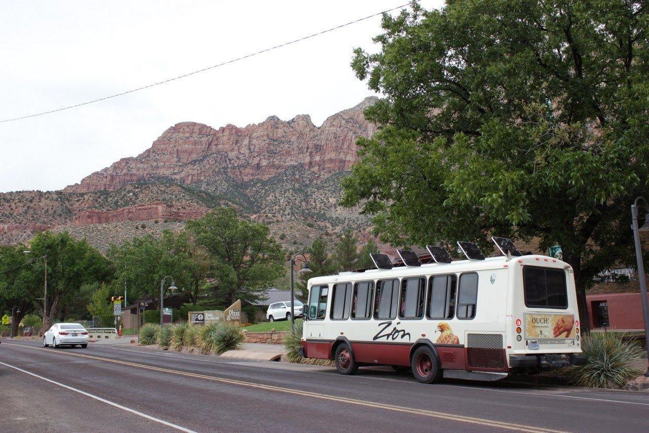 Autobuses al parque cada puñado de minutos