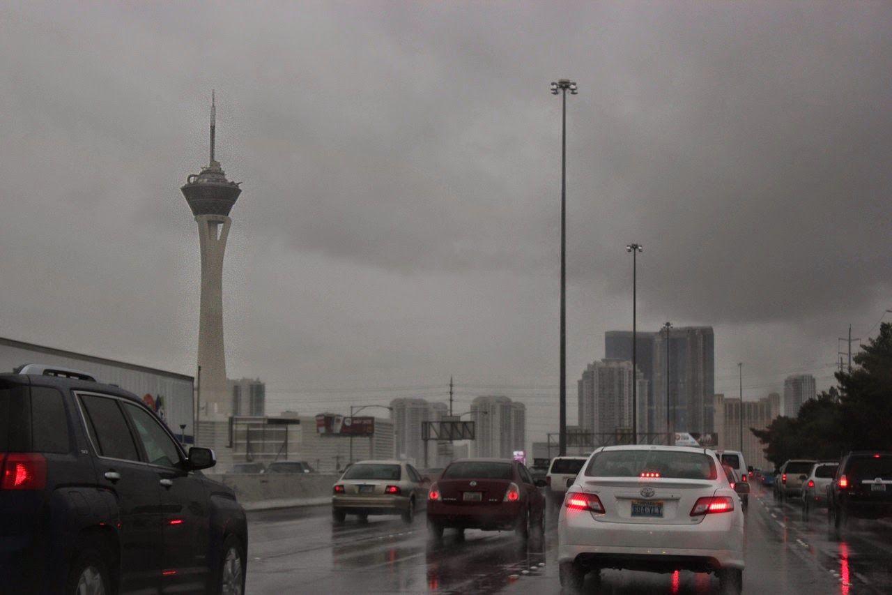 Llegamos a Las Vegas, con sus luces, su colorido...