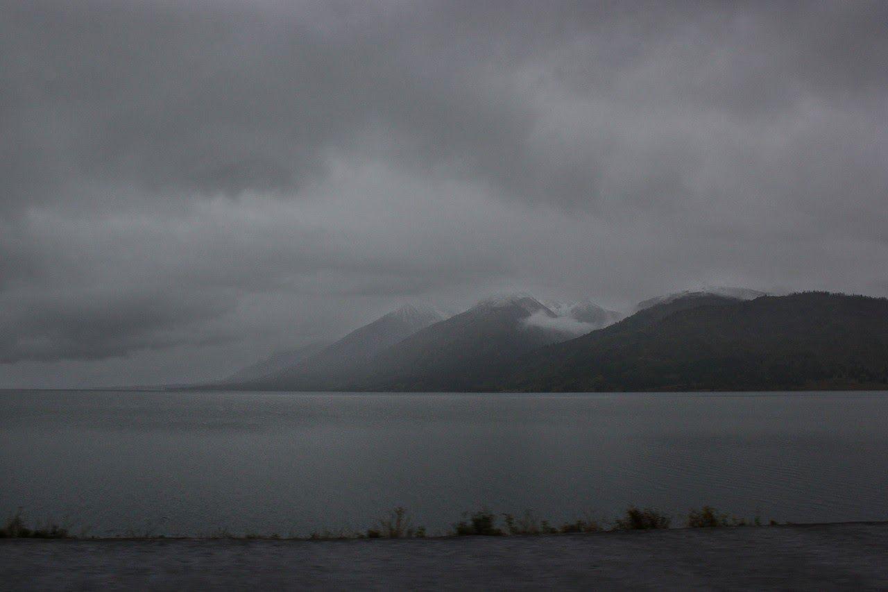 ... y casi negros al alcanzar Grand Teton