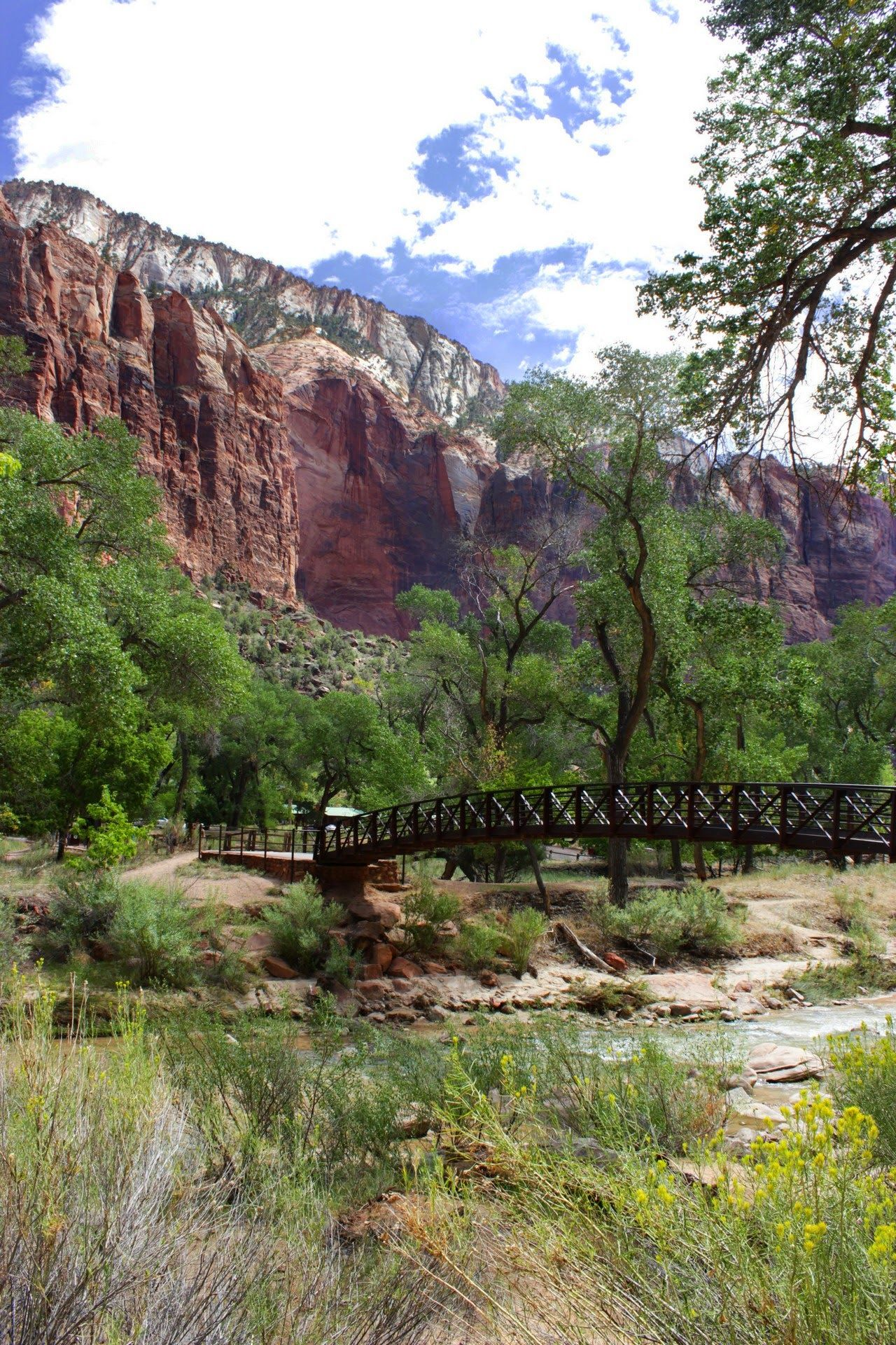 El puente que nos lleva a las Emerald Pools