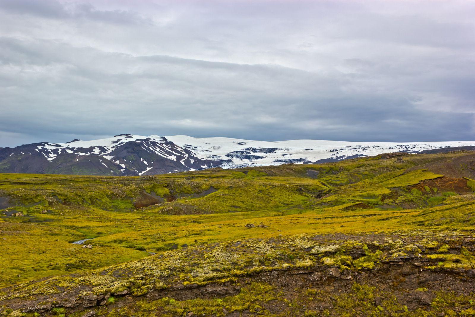 El glaciar Eyjafjallajökull, al oeste de Skógar