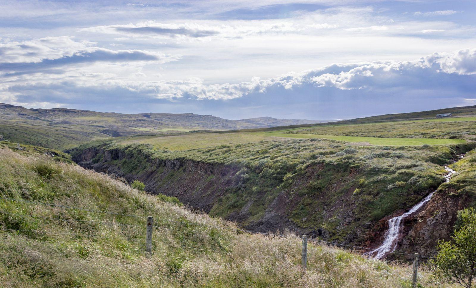 Un vistazo furtivo al cañón junto al mirador