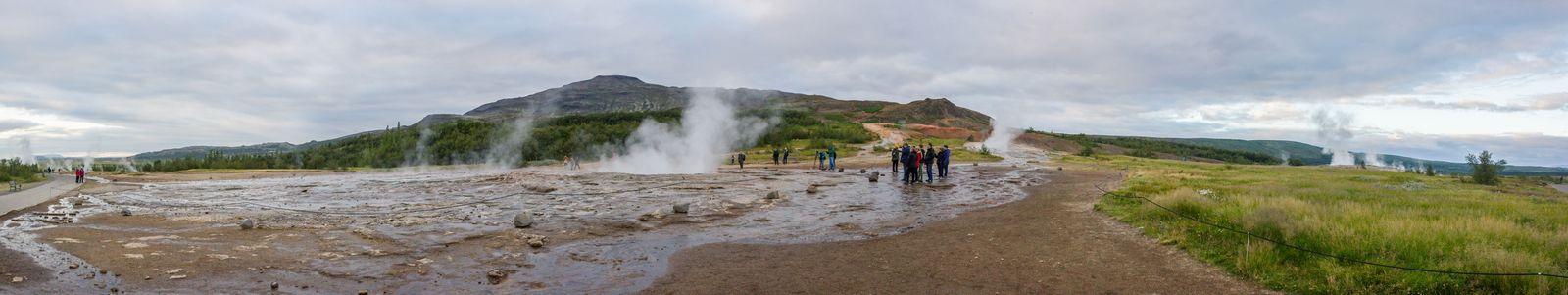 Las concentradas fumarolas de Geysir