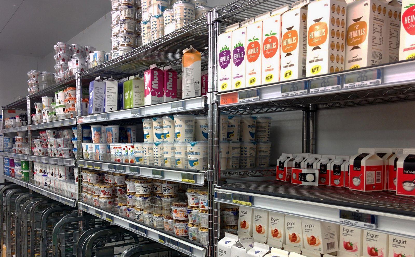 El paraíso del yogur en Bónus