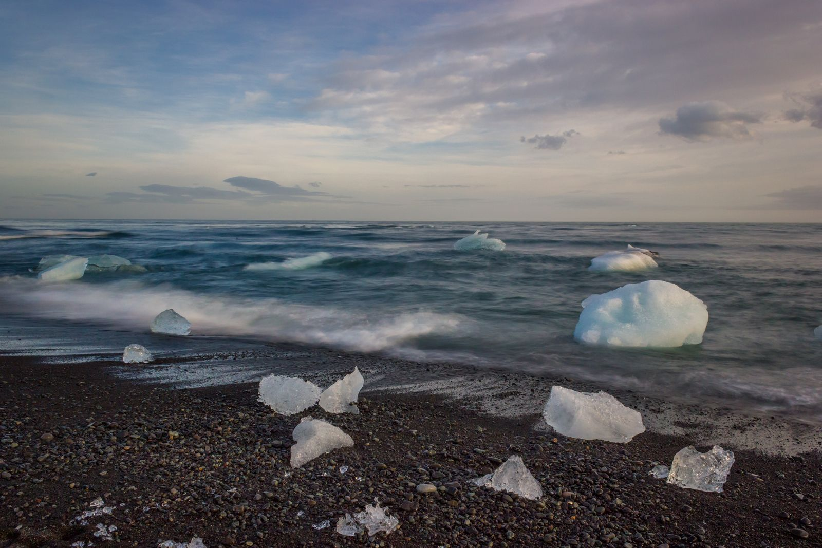 Las olas que mecen el hielo