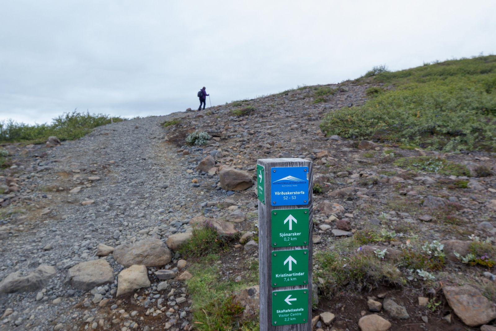 Los últimos metros hasta Sjónarsker