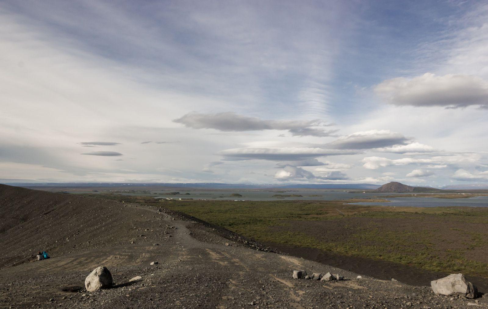 Mývatn y Vindbelgjarfjall desde la cresta
