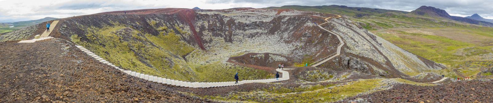 Las vistas al interior de Grábrók