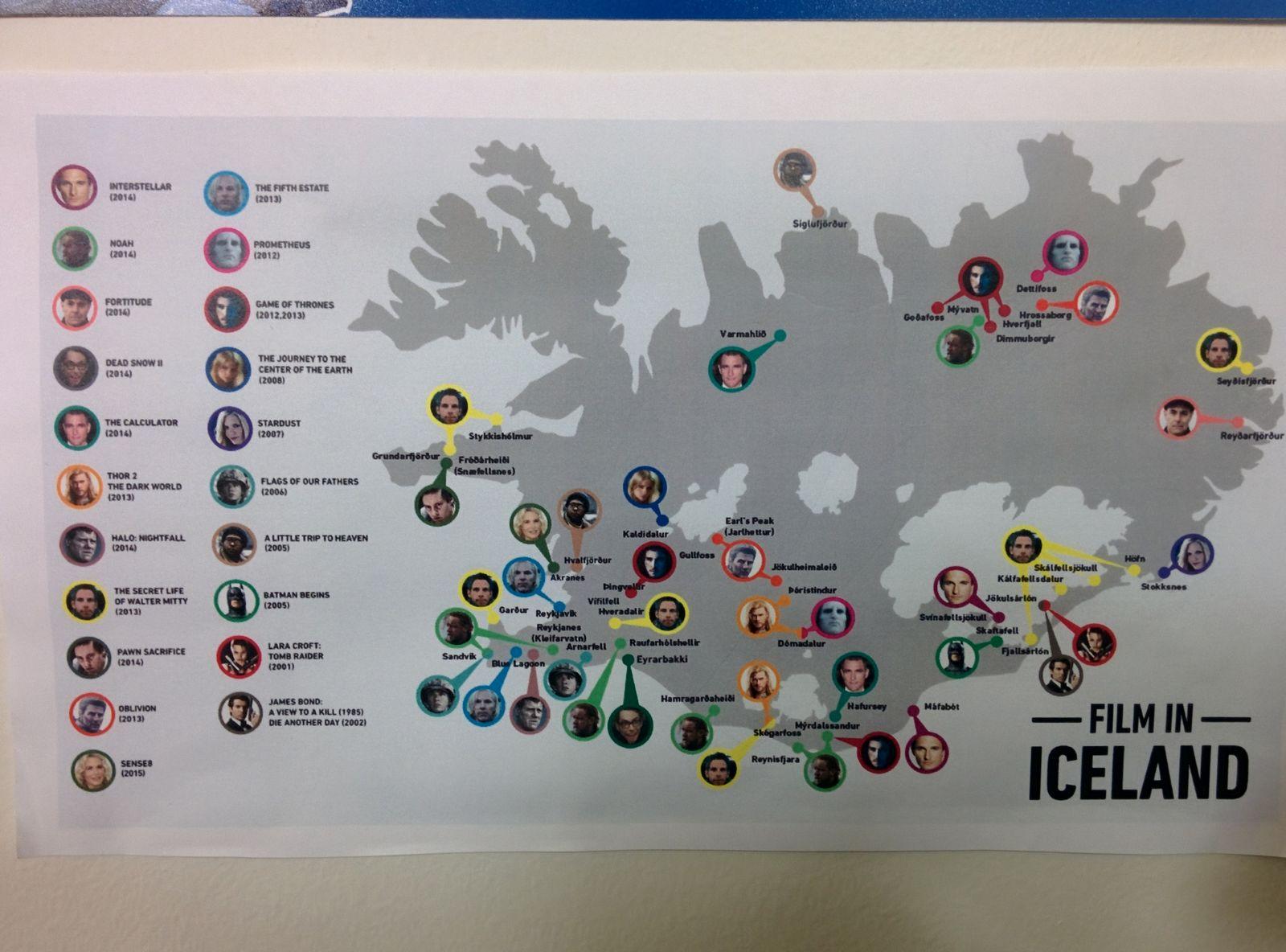 Islandia y el cine, un homenaje en las paredes del camping