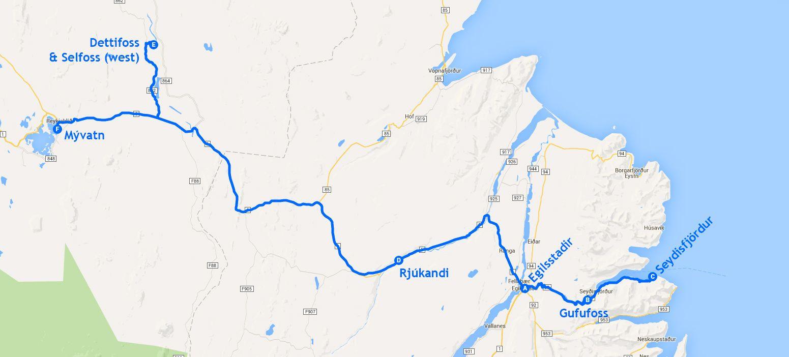 Mapa de la etapa 7