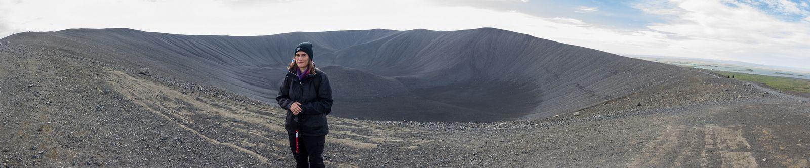 En la cresta del cráter