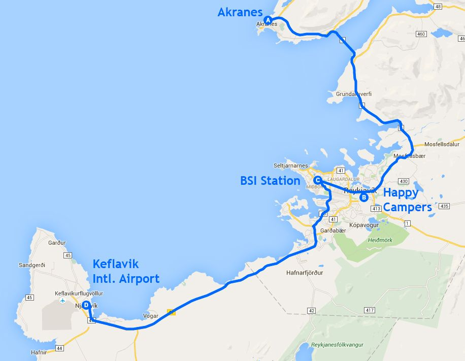 Mapa de la etapa 14