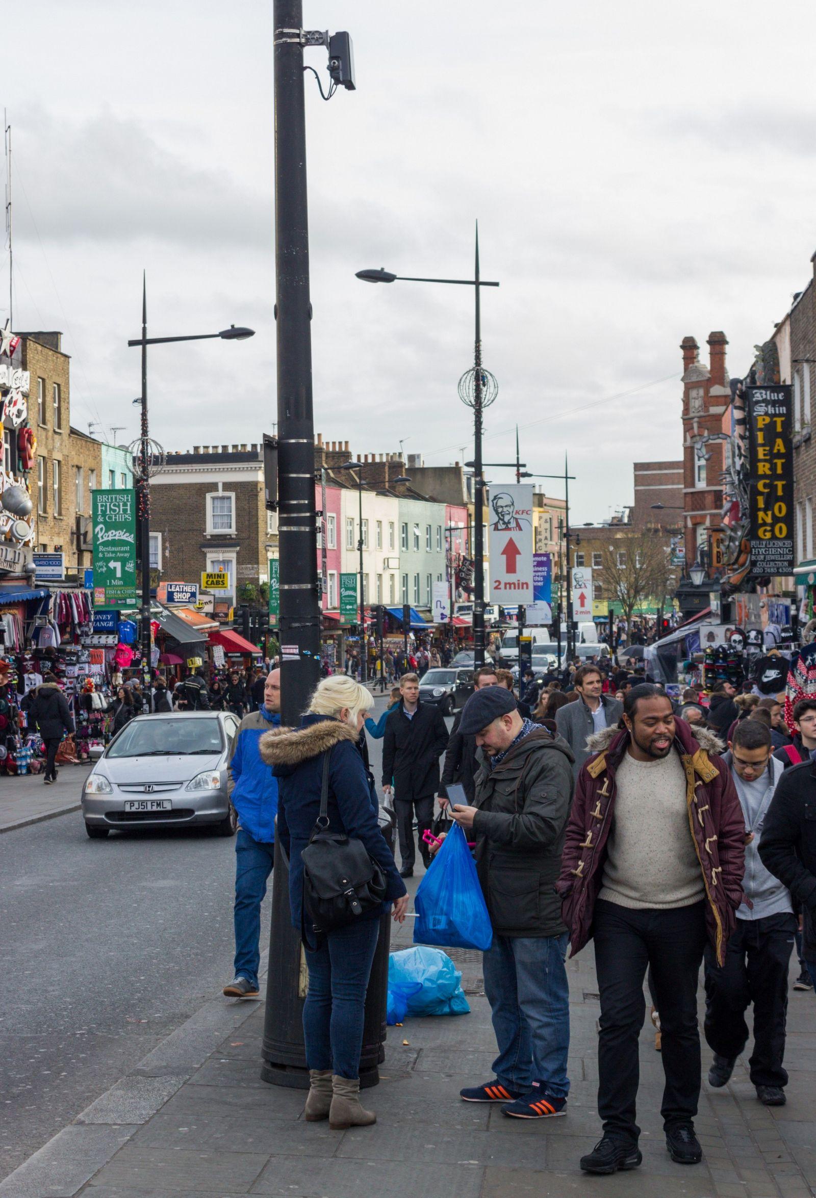 Bastante ambiente en Camden Town