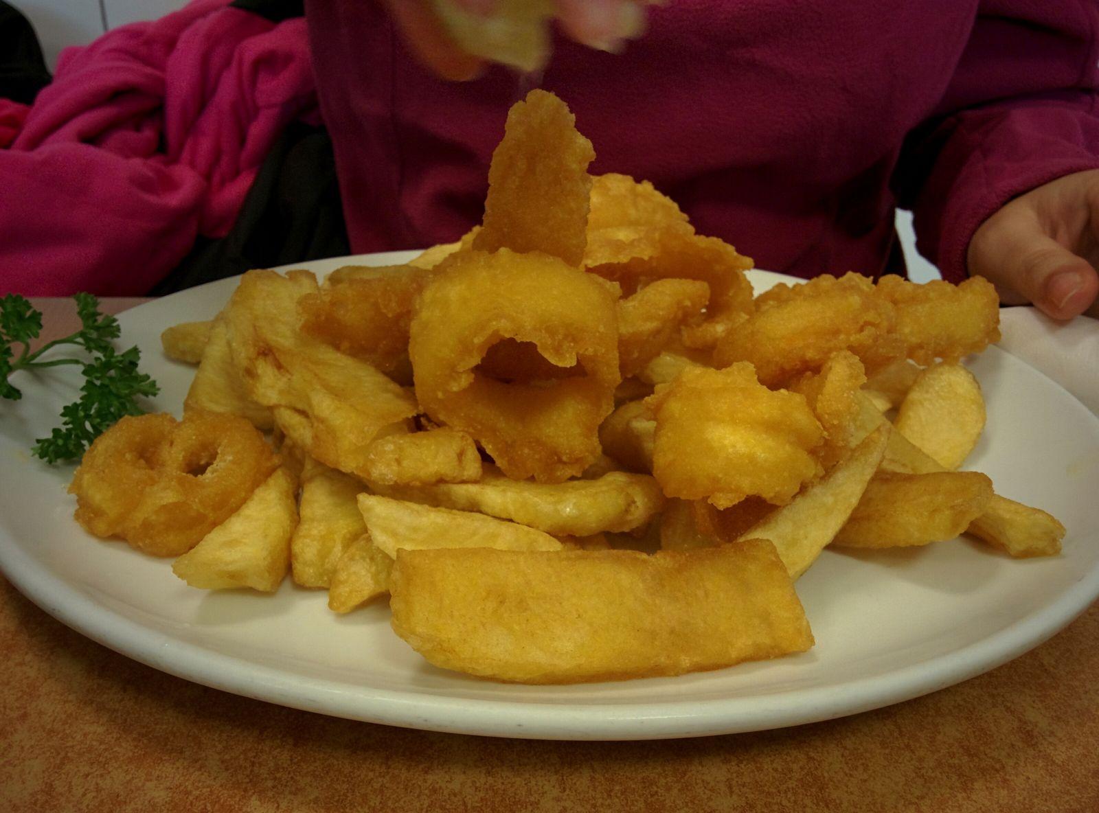Fish & Chips, versión calamares