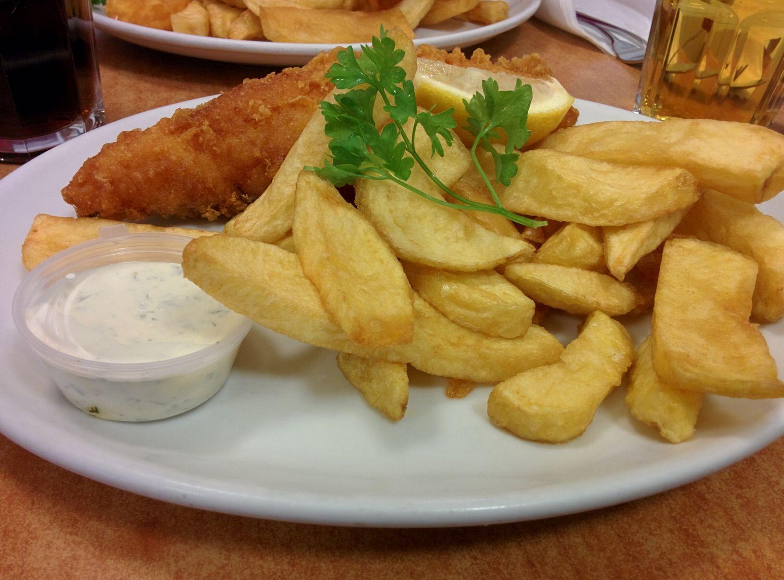 Fish & Chips, versión bacalao
