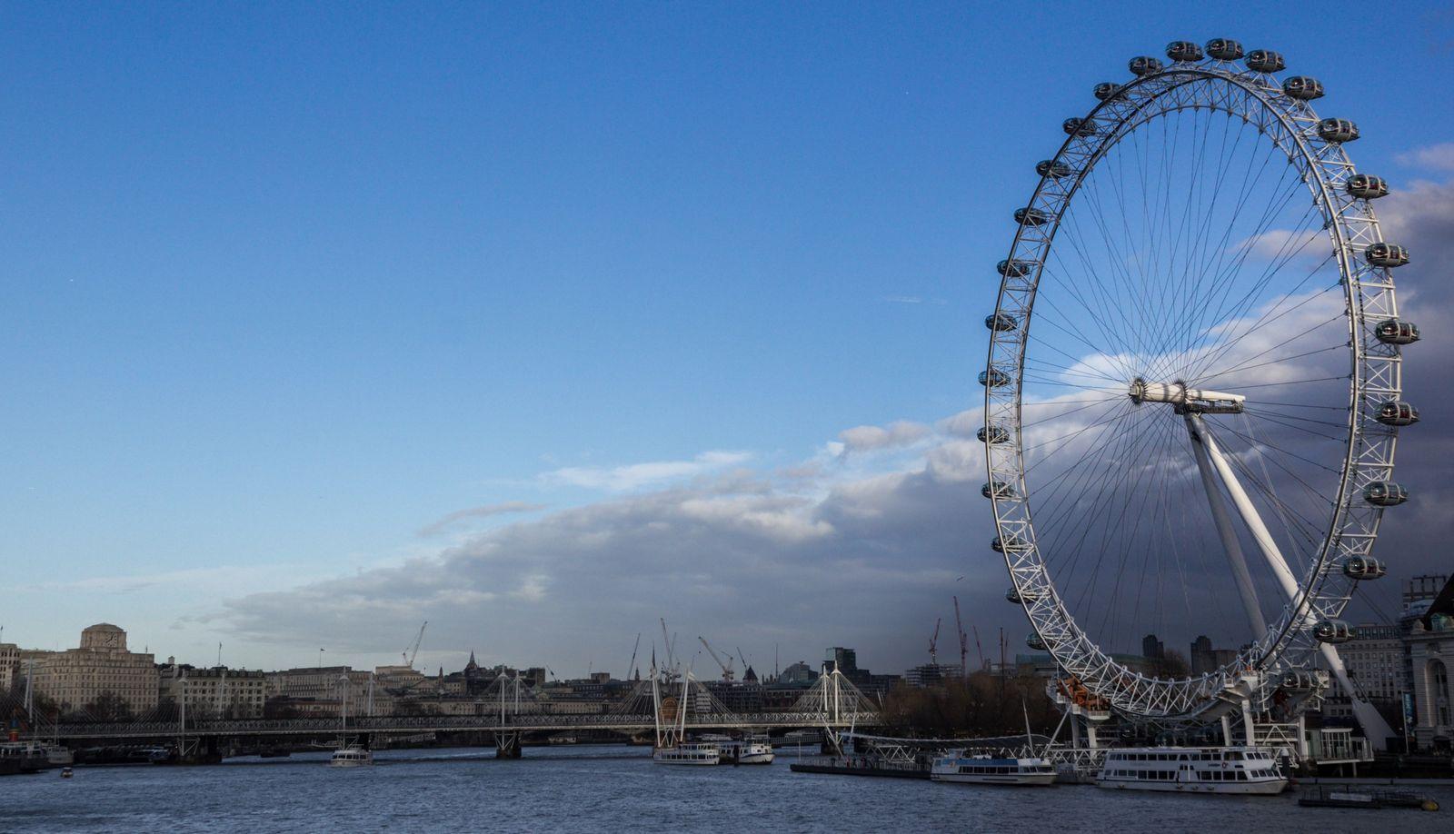 El London Eye desde el Puente de Westminster