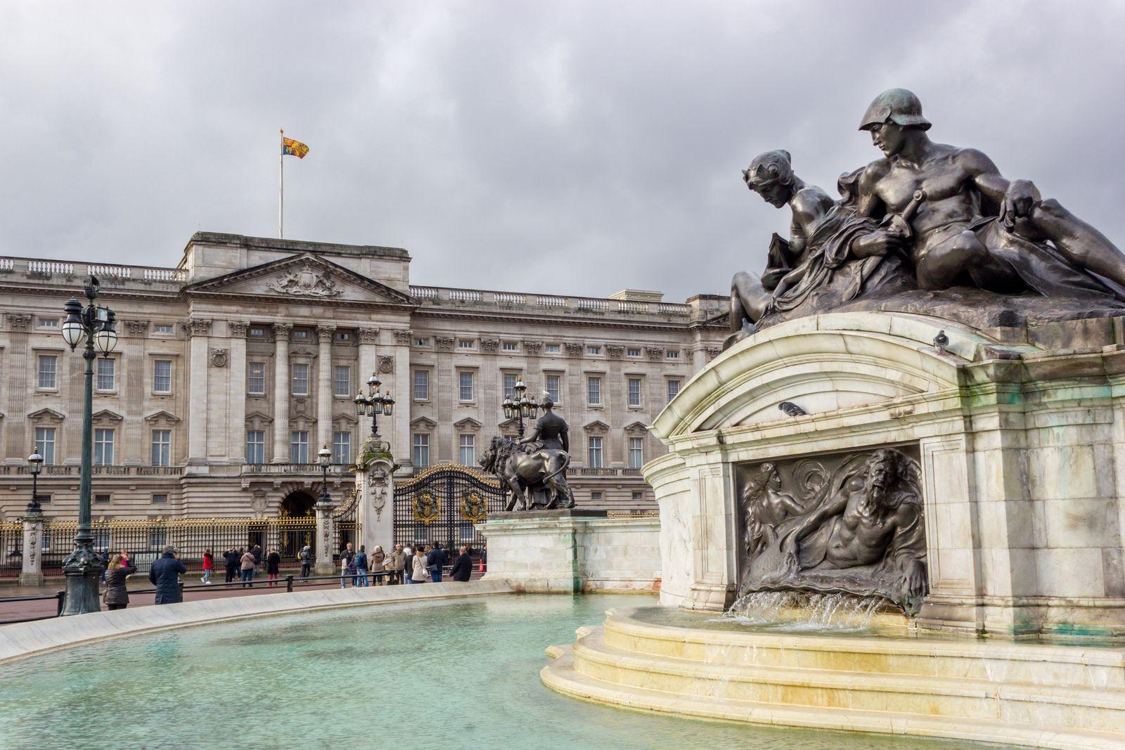 La fachada principal de Buckingham Palace