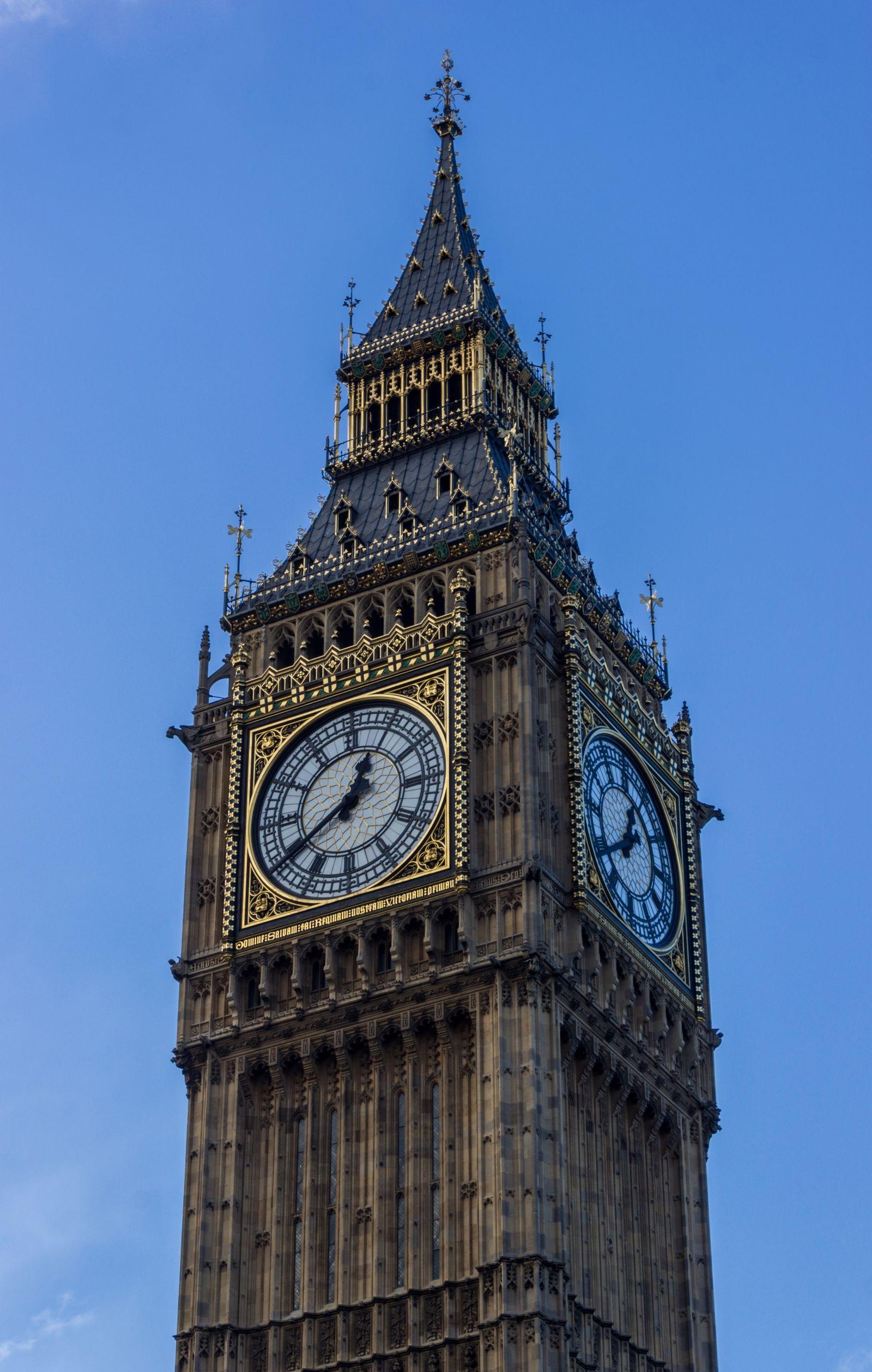 Detalle del reloj del Big Ben