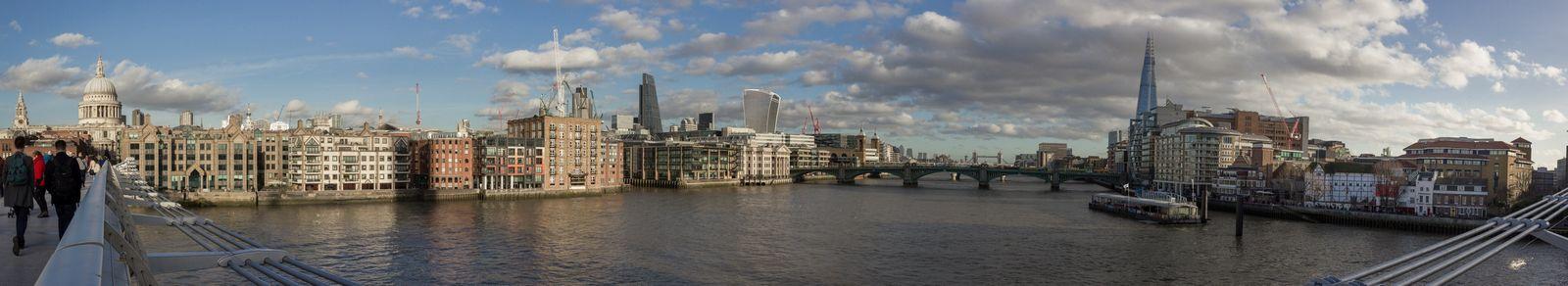 Panorámica al este desde el Millenium Bridge