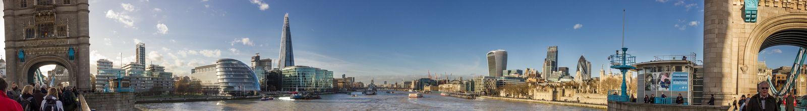 Panorámica de las vistas al oeste desde el Puente