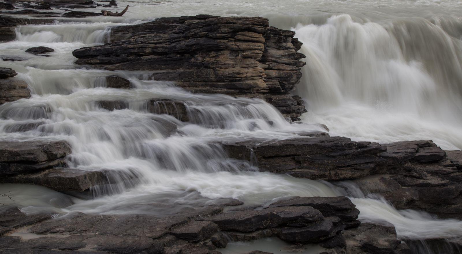 Detalle del agua de Athabasca