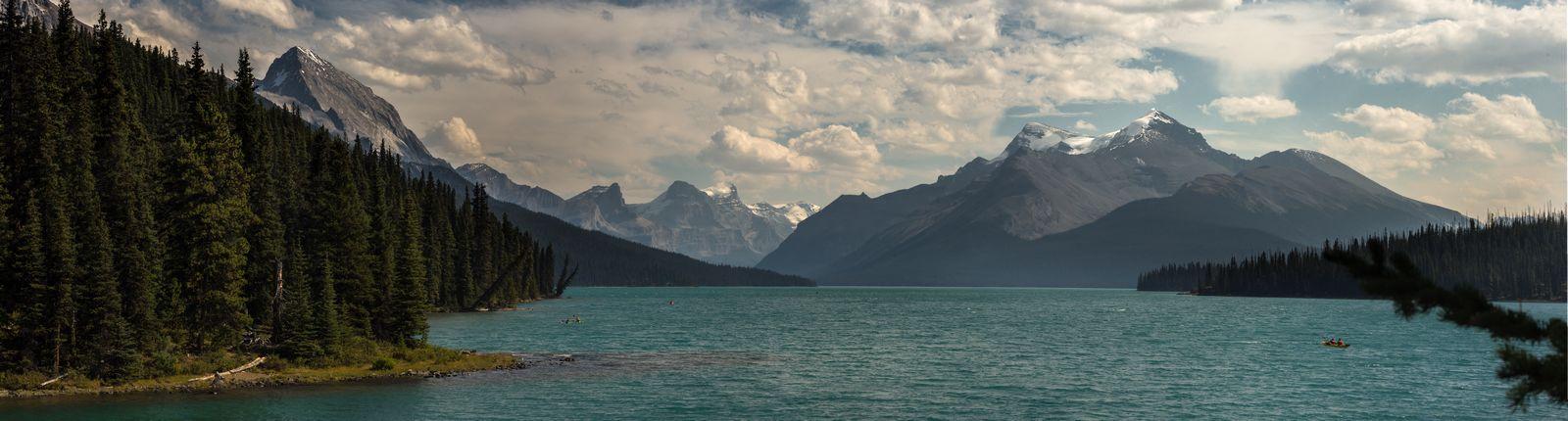 Maligne Lake panorámico