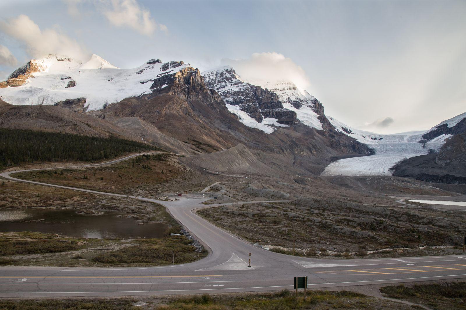 Y las vistas a Athabasca Glacier