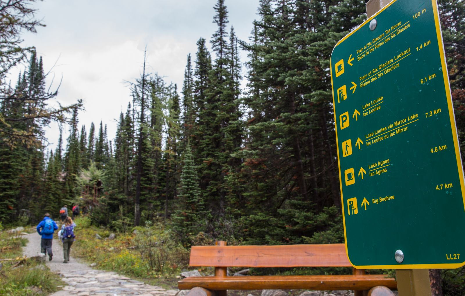 La buena señalización de todo el área de Lake Louise