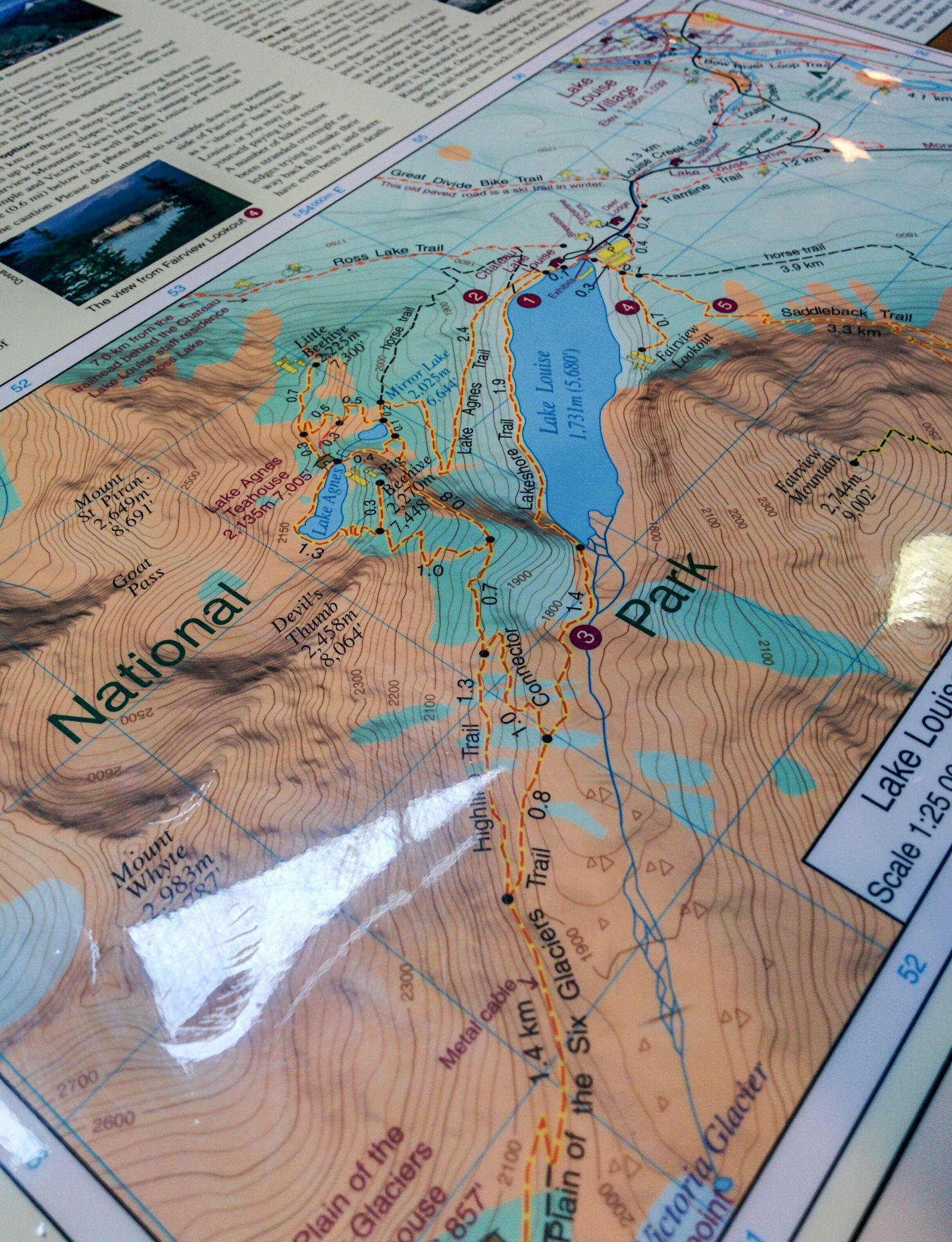El detallado mapa a la venta en el Visitor Center