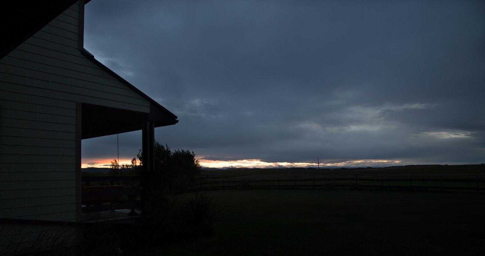 Llegan las nubes para ver el amanecer