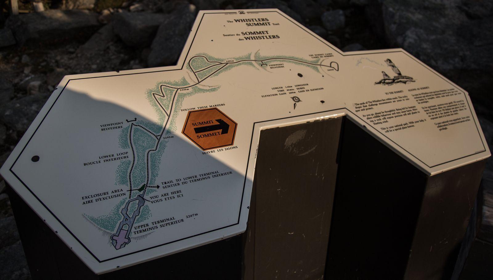 Indicaciones para alcanzar Whistler Peak