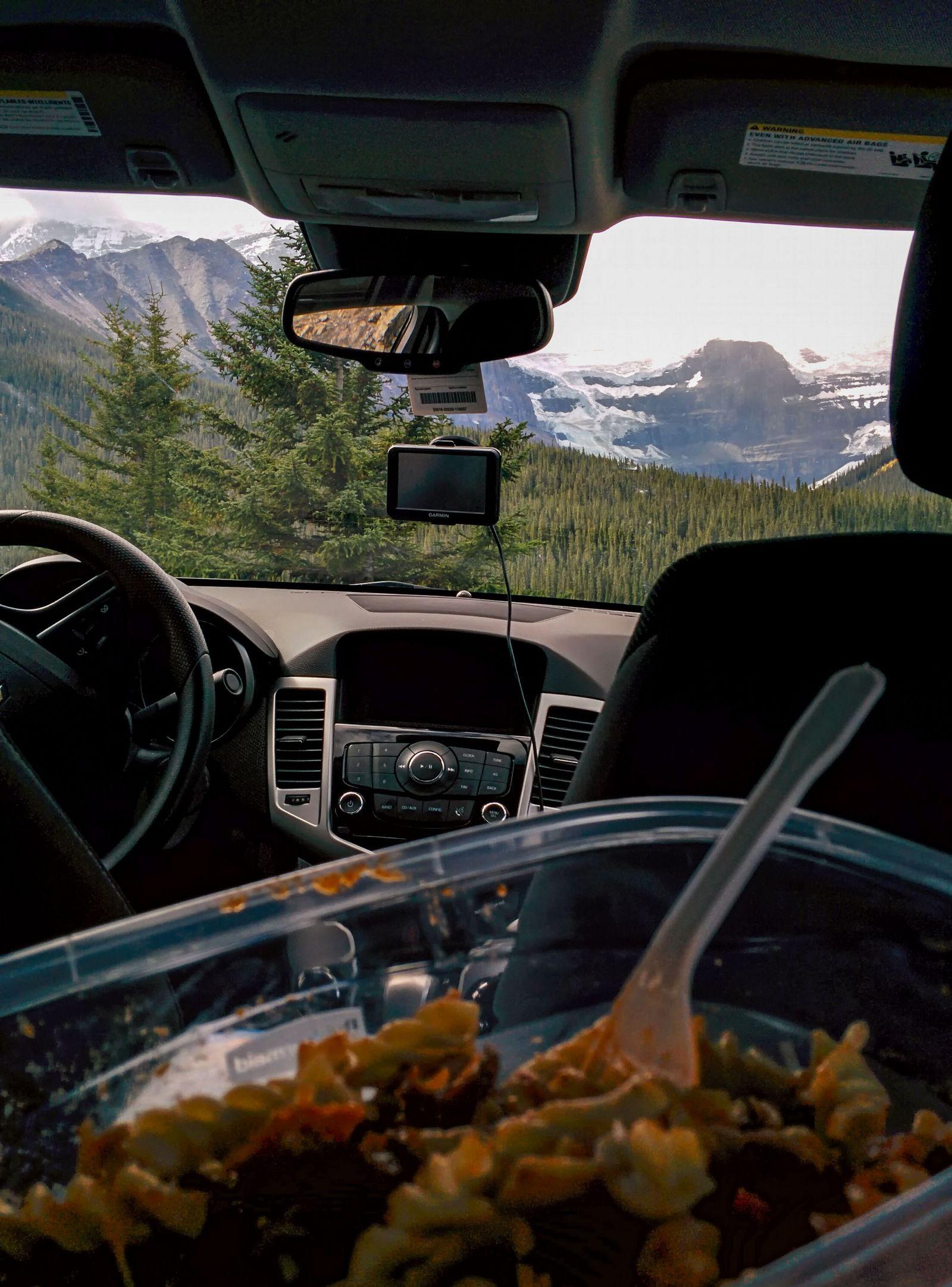 Comiendo con vistas